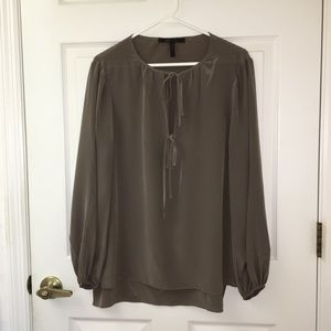 BCBG MAXAZRIA Dark Green Blouse